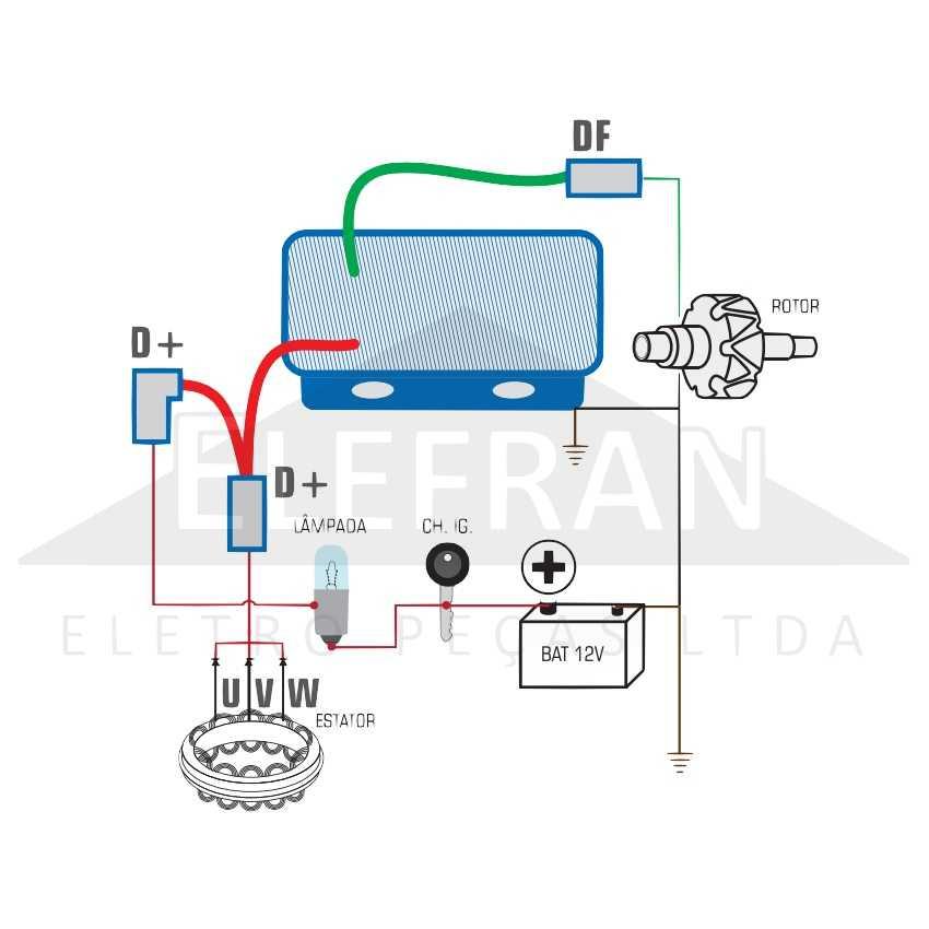 Gauss Ga007 Regulador De Voltagem Do Alternador 14v 55a Bosch Av