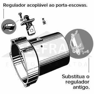 Ikro Ik5800 Regulador De Voltagem Acoplavel Ao Porta Escovas Do